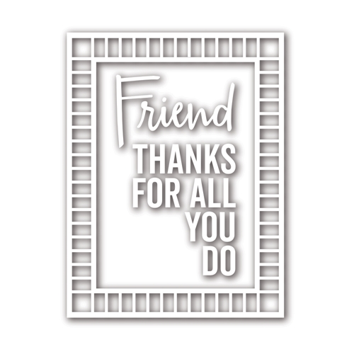 Simon Says Stamp GRID FRAME Wafer Dies sssd111772 Friends Preview Image