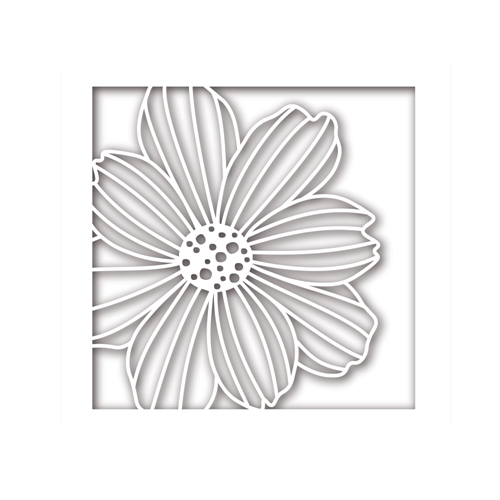 Simon Says Stamp COSMO FLOWER FRAME Wafer Dies sssd111774 Friends Preview Image