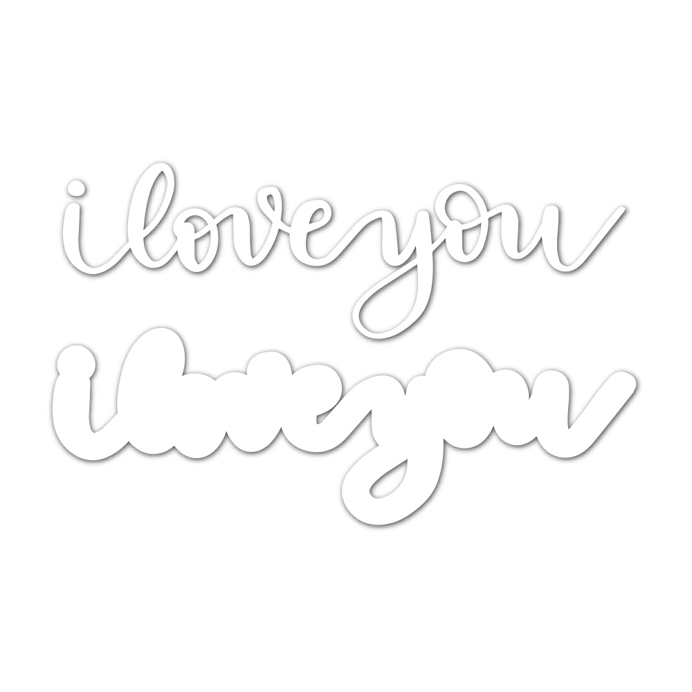 Simon Says Stamp I LOVE YOU Wafer Dies sssd111800 Friends zoom image