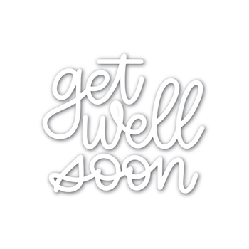 Simon Says Stamp GET WELL SOON Wafer Dies sssd111783 Friends