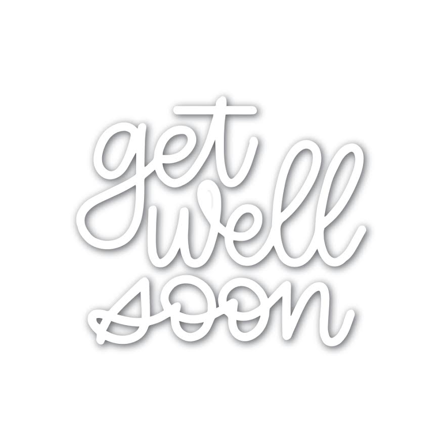 Simon Says Stamp GET WELL SOON Wafer Dies sssd111783 Friends zoom image