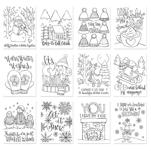 Simon Says Stamp Suzy's WINTER WARMTH Watercolor Prints szcww17 Preview Image