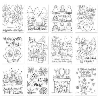 Simon Says Stamp Suzy's WINTER WARMTH Watercolor Prints szcww17