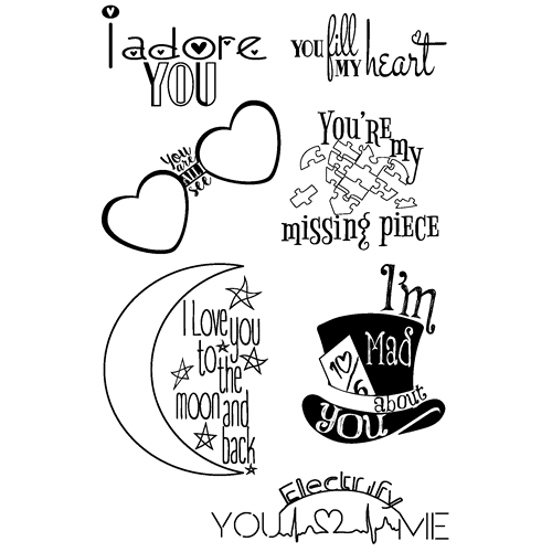Joy Clair LOVE QUOTES Clear Stamp Set clr02029 Preview Image
