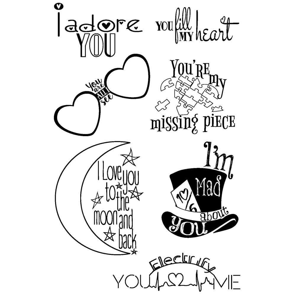 Joy Clair LOVE QUOTES Clear Stamp Set clr02029 zoom image