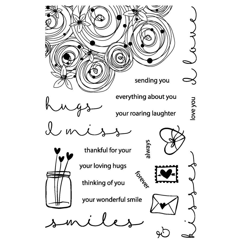Joy Clair HUGS AND SMILES Clear Stamp Set clr01005 zoom image