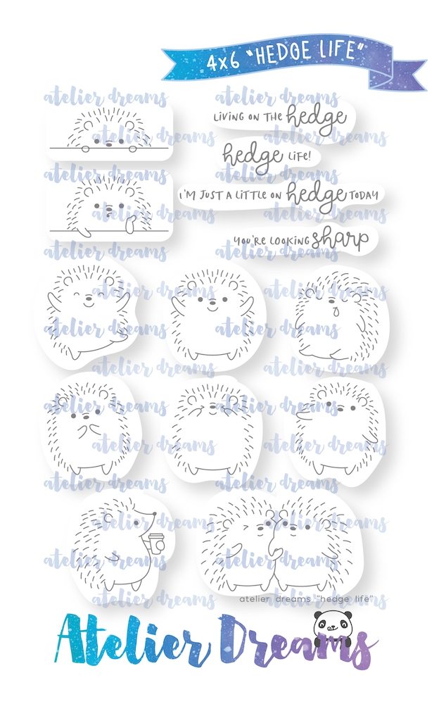 Atelier Dreams HEDGE LIFE Clear Stamp Set ad-071 zoom image