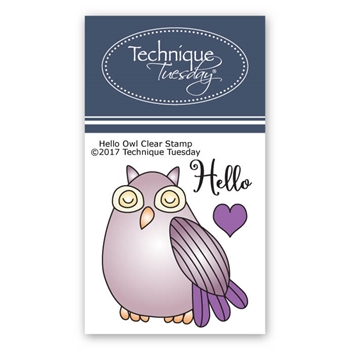 Technique Tuesday HELLO OWL Clear Stamps 2588