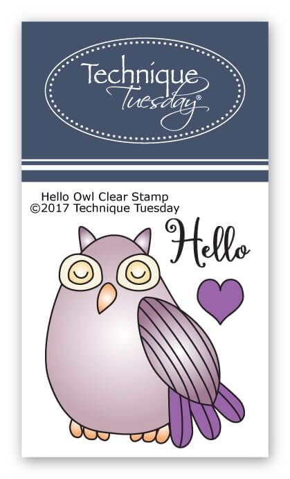 Technique Tuesday HELLO OWL Clear Stamps 2588 zoom image
