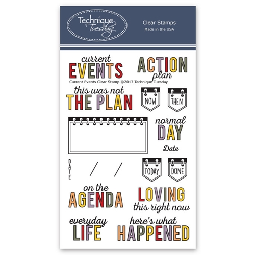 Technique Tuesday CURRENT EVENTS Clear Stamps 2612* Preview Image