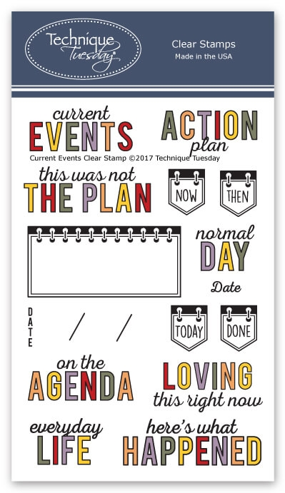 Technique Tuesday CURRENT EVENTS Clear Stamps 2612* zoom image