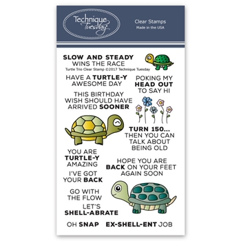 Technique Tuesday TURTLE TRIO Clear Stamps 2600