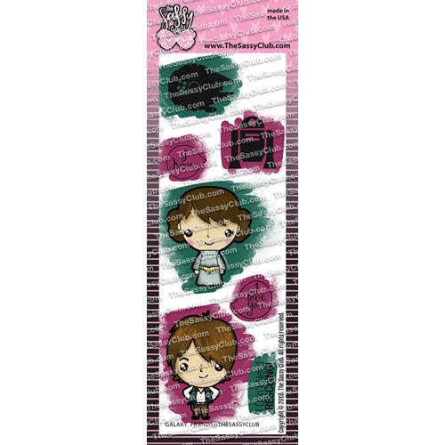The Sassy Club GALAXY FRIENDS Clear Stamps tscl114 Preview Image