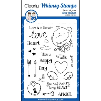 Whimsy Stamps CUTE CUPID Clear Stamps cwsd255*