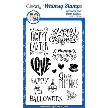 Whimsy Stamps HOLIDAY OCCASIONS Clear Stamps cwsd253*