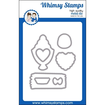 Whimsy Stamps CRAZY FOR CHOCOLATE Die Set wsd413*
