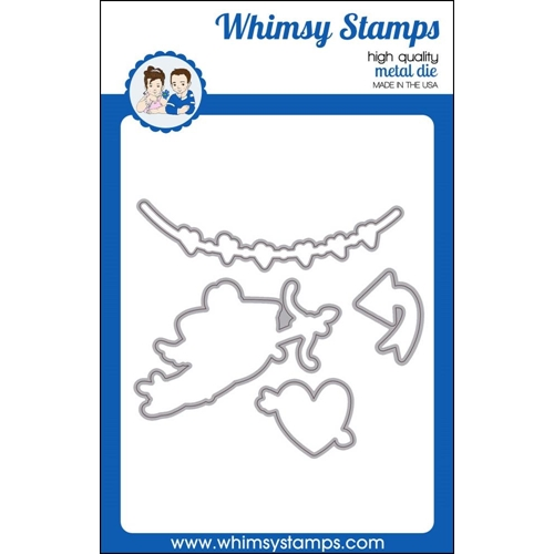 Whimsy Stamps CUPID IN TRAINING Die Set wsd415* Preview Image