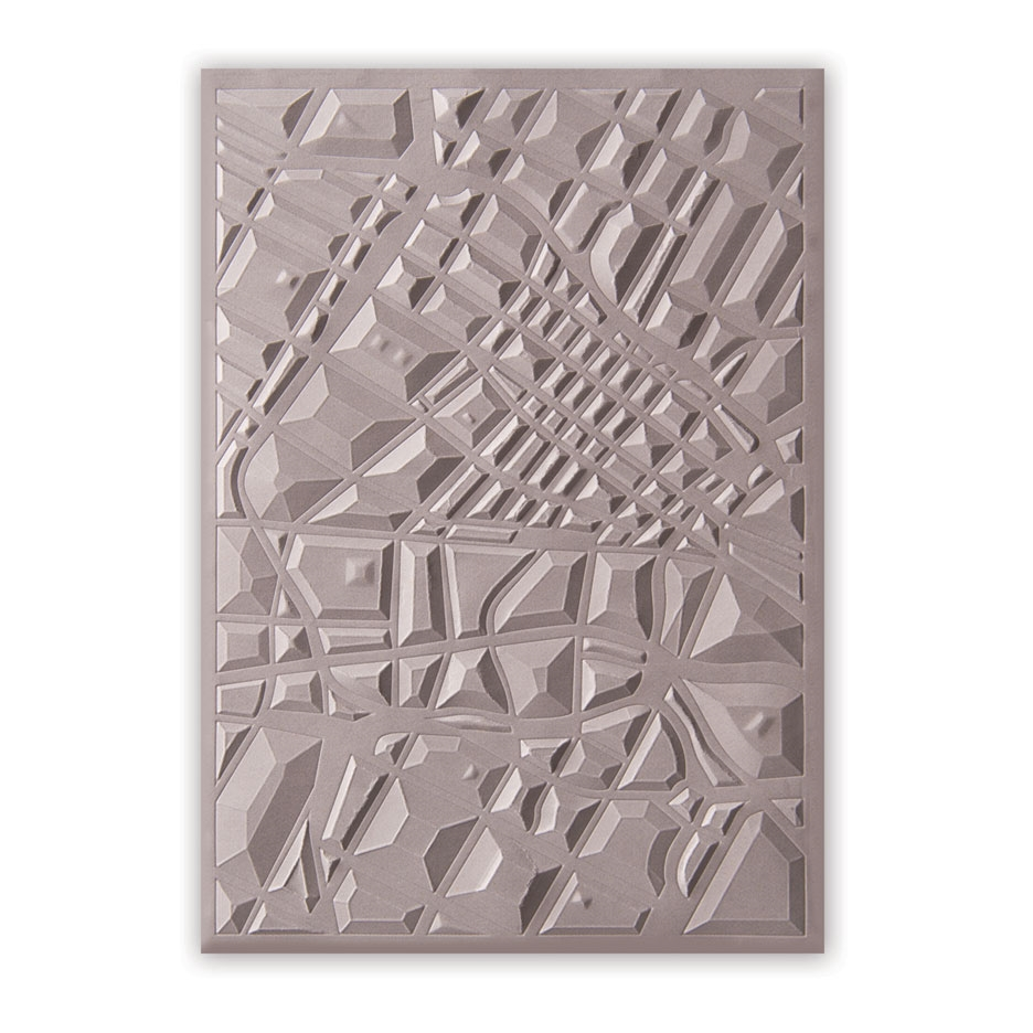 Sizzix Textured Impressions MAP 3D Embossing Folder 662456* zoom image