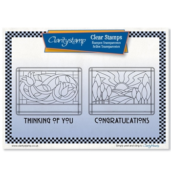 Claritystamp ART NOUVEAU CONGRATULATIONS AND THINKING OF YOU Clear Stamps stawo10568a5*