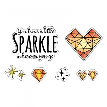 Sizzix Framelits SPARKLE Combo Die and Stamp Set 662683*