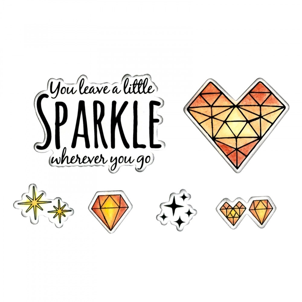 Sizzix Framelits SPARKLE Combo Die and Stamp Set 662683* zoom image