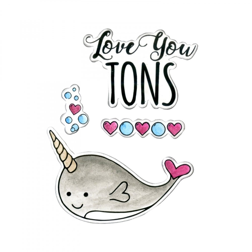Sizzix Framelits LOVE YOU TONS Combo Die and Stamp Set 662681* zoom image
