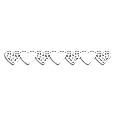 Penny Black HEARTS BORDER Thin Metal Creative Dies 51-408* Preview Image
