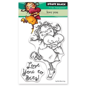 Penny Black Clear Stamps LOVE YOU 30 459*