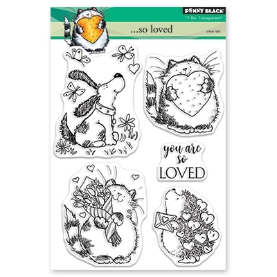 Penny Black Clear Stamps SO LOVED 30 457 zoom image