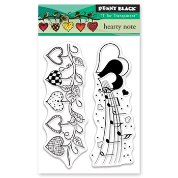 Penny Black Clear Stamps HEARTY NOTE 30-454