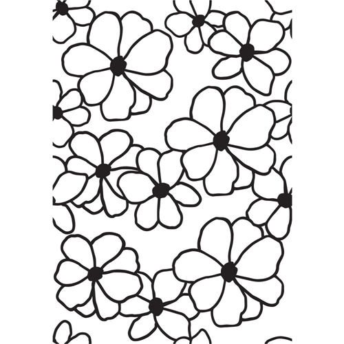 Kaisercraft FLOWERS 4x6 Inch Embossing Folder EF280 Preview Image