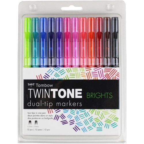 Tombow BRIGHTS Twintone Marker Set 61500* Preview Image