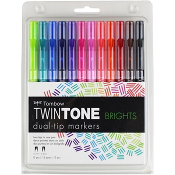 Tombow BRIGHTS Twintone Marker Set 61500