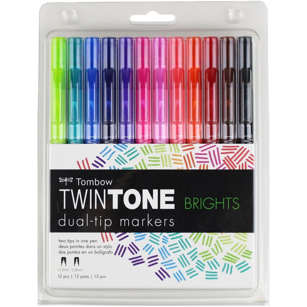 Tombow BRIGHTS Twintone Marker Set 61500 zoom image