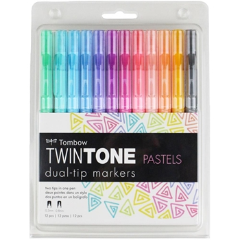 Tombow PASTELS Twintone Marker Set 61501