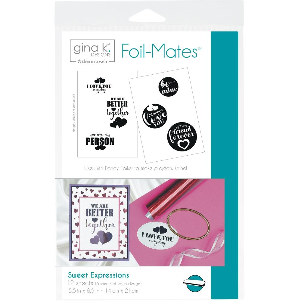 Therm O Web Gina K Designs SWEET EXPRESSIONS Foil-Mates Sheets 18066* zoom image