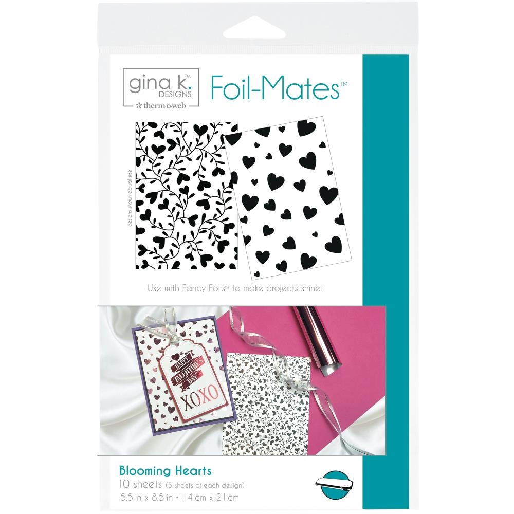 Therm O Web Gina K Designs BLOOMING HEARTS Foil-Mates Sheets 18065 zoom image