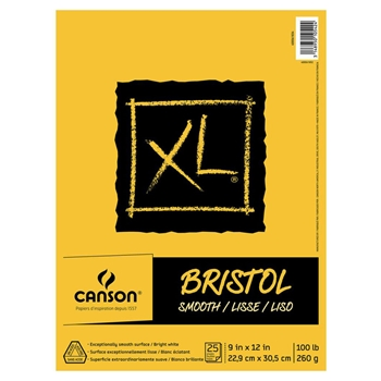 Canson XL BRISTOL SMOOTH 9 x 12 Paper Pad 105424
