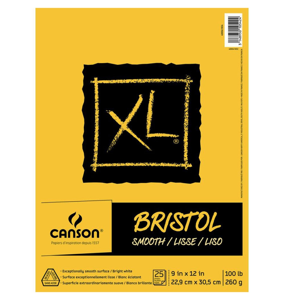 Canson XL BRISTOL SMOOTH 9 x 12 Paper Pad 105424 zoom image