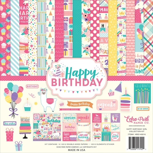 Echo Park HAPPY BIRTHDAY GIRL 12 x 12 Collection Kit hbg140016* Preview Image
