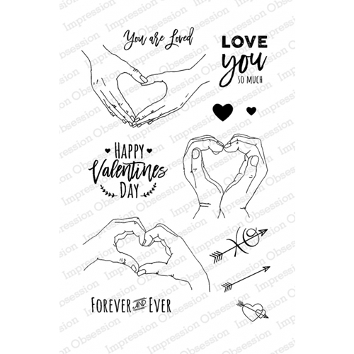 Impression Obsession Clear Stamp LOVE HANDS Set CL814* Preview Image