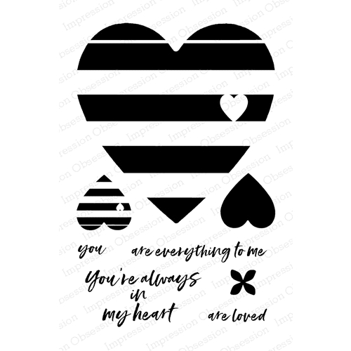 Impression Obsession Clear Stamp YOU'RE ALWAYS IN MY HEART Set CL799* Preview Image