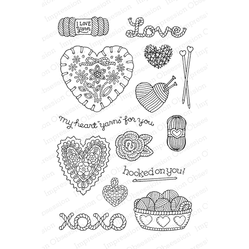 Pink Ink For Impression Obsession Clear Stamp YARN FOR YOU CL813* Preview Image