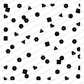 Impression Obsession Cling Stamp CONFETTI Cover a Card CC295* Preview Image