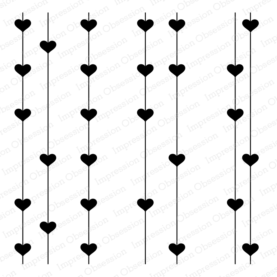 Impression Obsession Cling Stamp PULL ON MY HEART STRINGS Cover a Card CC301* zoom image