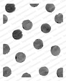 Impression Obsession Cling Stamp WATERCOLOR DOTS L20424*
