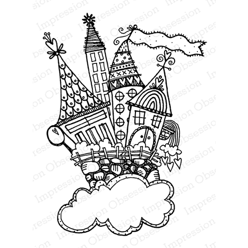 Impression Obsession Cling Stamp CASTLE CUTE SKY H19689* Preview Image