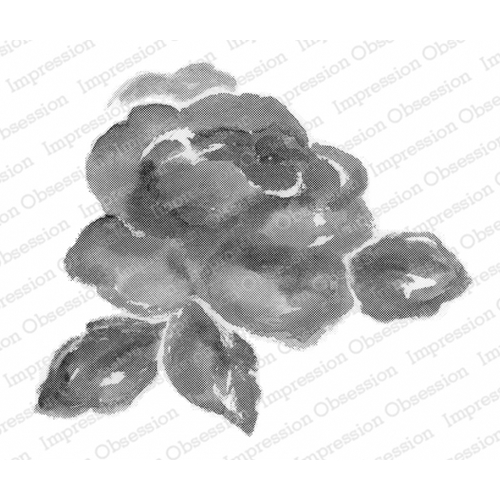 Impression Obsession Cling Stamp WATERCOLOR ROSE L20423* Preview Image