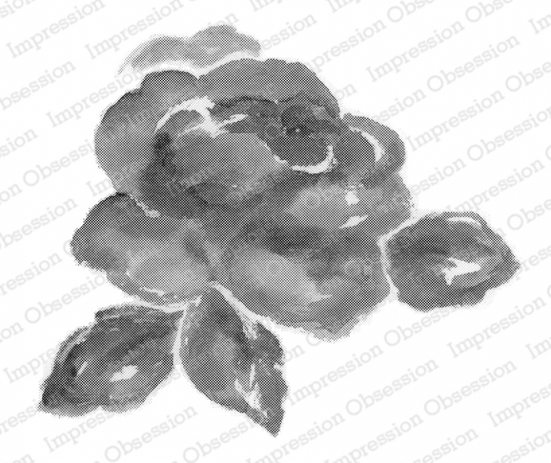 Impression Obsession Cling Stamp WATERCOLOR ROSE L20423* zoom image