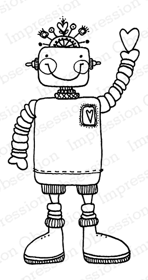 Impression Obsession Cling Stamp WILLY ROBOT D19698* zoom image